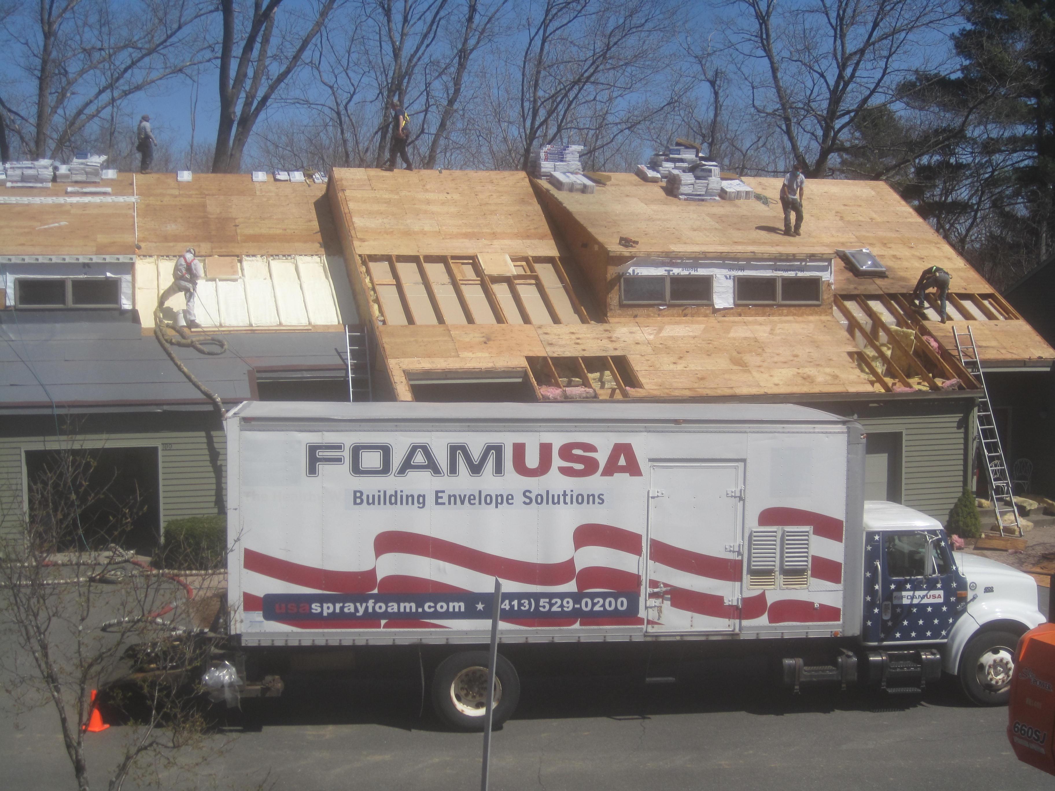 Residential spray foam insulation