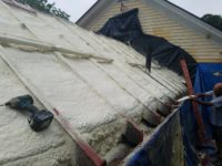 No more ICE DAMS! Closed Cell spray foam installed during roof replacement. North Amherst, MA - Foam USA
