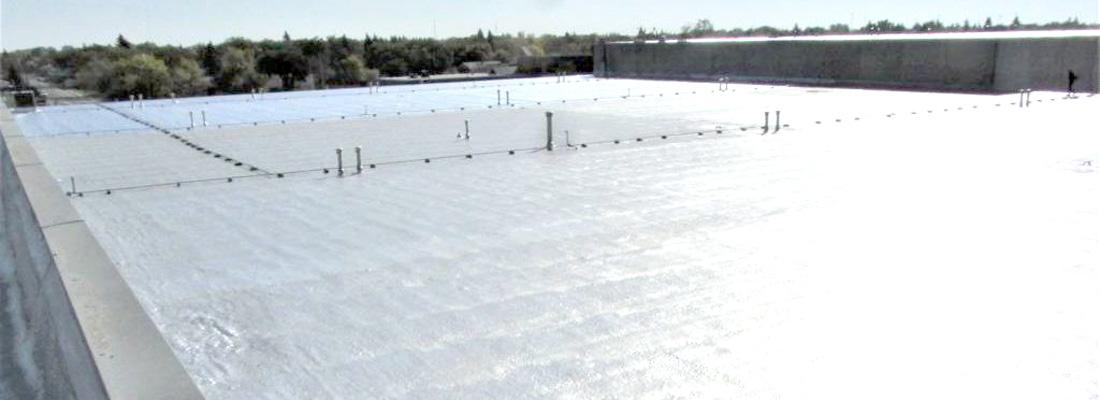 commercial spray foam roof