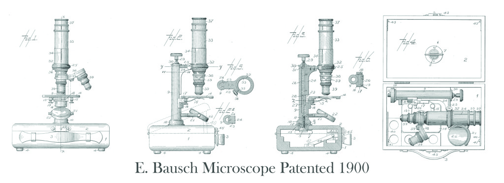 E. Bausch Microscope Patented 1900