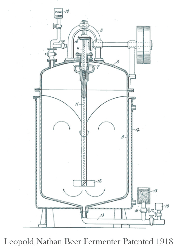L. Nathan Beer Fermenter Patented 1918