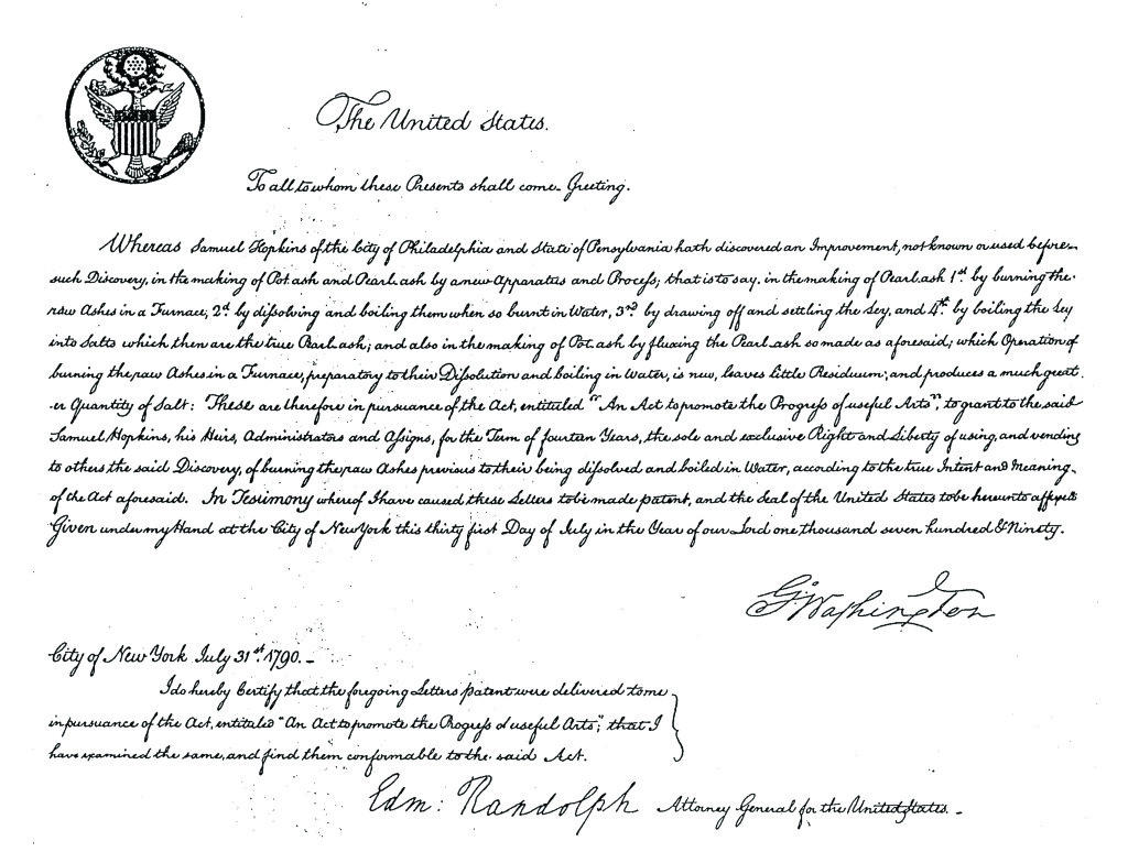 First United States Patent