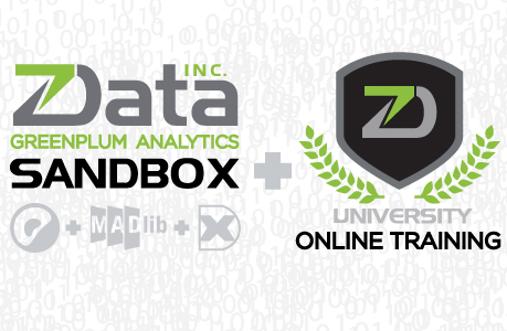 zData Inc. introduces their Pivotal Greenplum Analytics Sandbox, with MADlib and SpringXD, and the ZD Online Training Platform