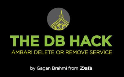 The DB Hack – Ambari Delete or Remove Service
