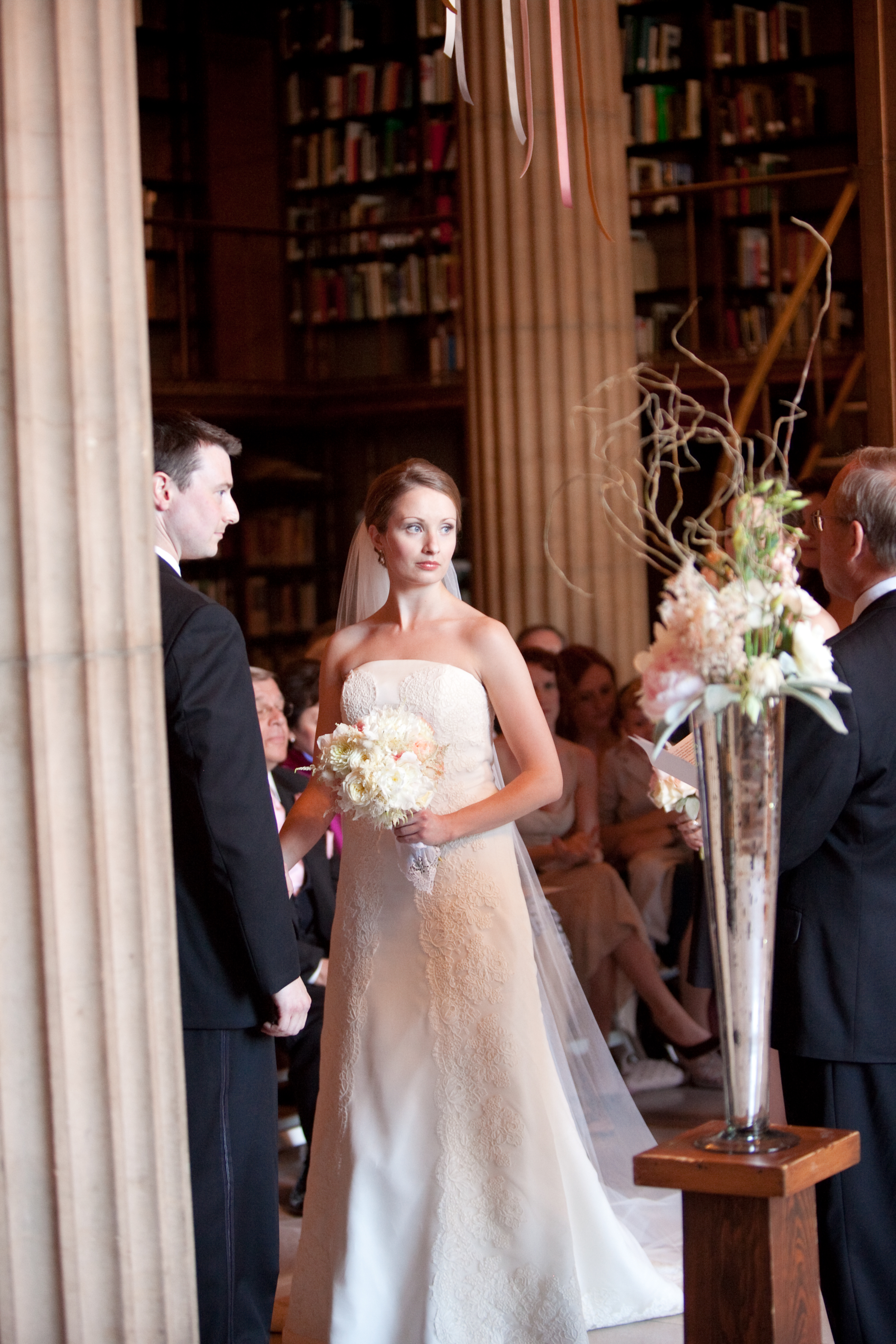 Anne & Noah: Library Wedding  Featured on Style Me Pretty
