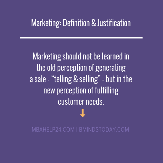 marketing-definition-and-justification