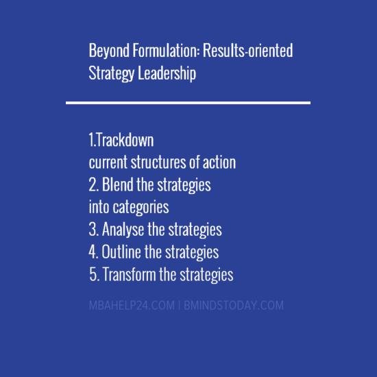 strategy leadership leadership Beyond Formulation: Results-oriented Strategy Leadership strategy leadership