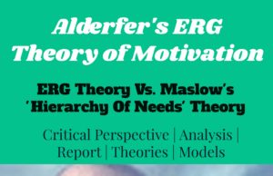 ERG Theory of Motivation Vs Hierarchy Needs theory