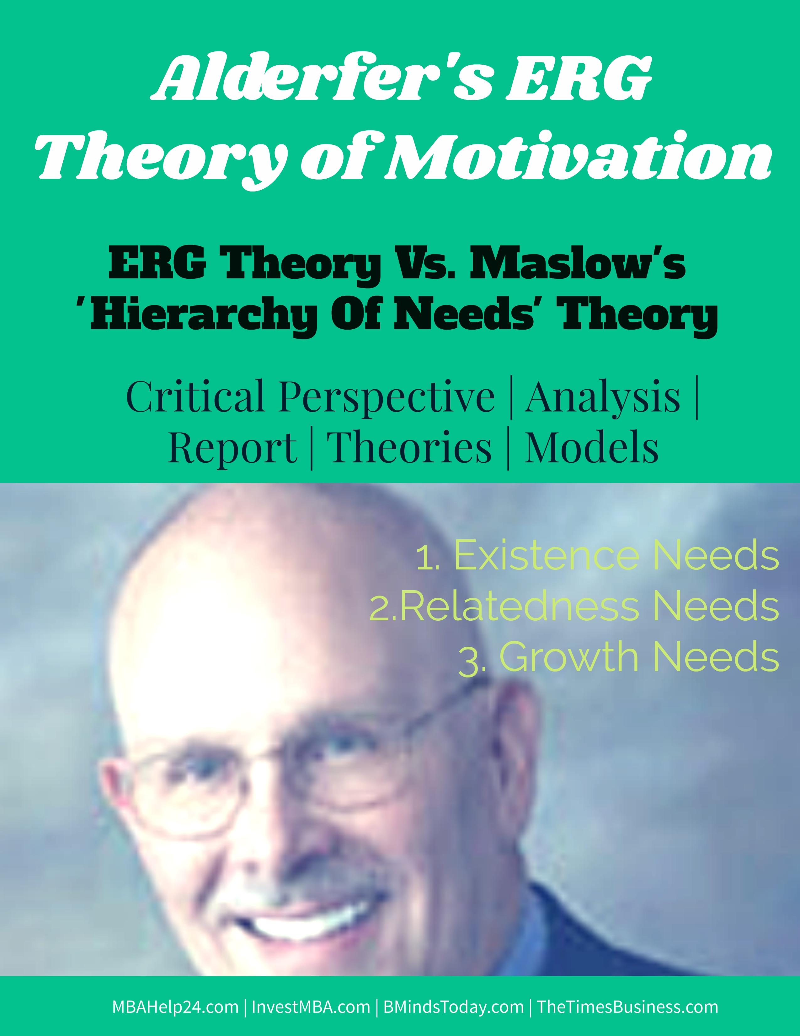 "ERG Theory of Motivation | ERG Model Vs "" Hierarchy of Needs "" Theory ERG Theory ERG Theory of Motivation | ERG Model Vs "" Hierarchy of Needs "" Theory ERG Theory of Motivation Vs Hierarchy Needs theory"