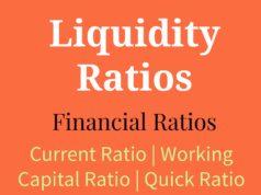 Liquidity Ratios- Current Ratio, Working Capital Ratio, Quick Ratio