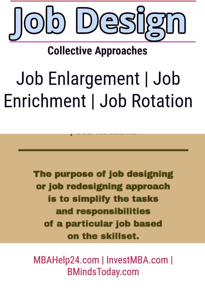 Collective Approaches to Job Design | Job Enrichment | Job Rotation  job design Collective Approaches to Job Design | Job Enrichment | Job Rotation job design approaches 1