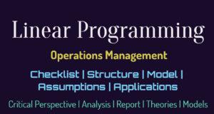 Linear Programming   Checklist   Structure   Model   Assumptions   Applications