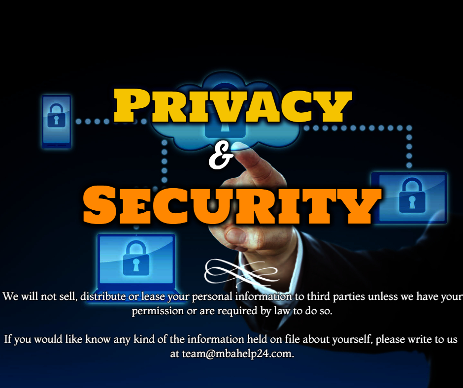 Statement of Privacy and Security | MBA Help 24 | MBA Dissertation  Privacy privacy and security