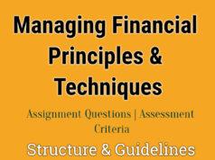 Managing Financial Principles & Techniques