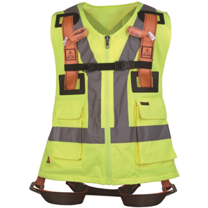 DeltaPlus Full Body Safety Harness With Hi Vis Vest