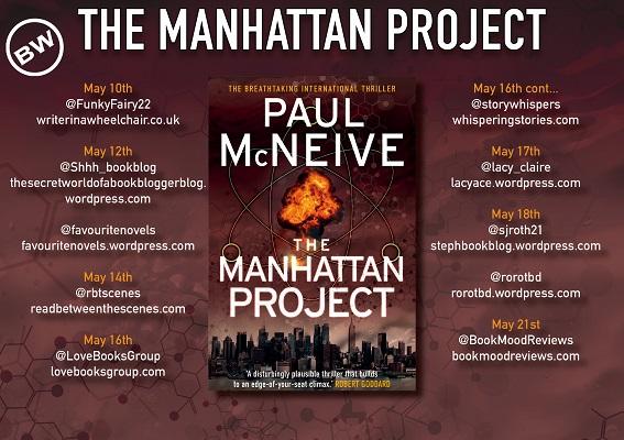 The Manhattan Project blog tour banner