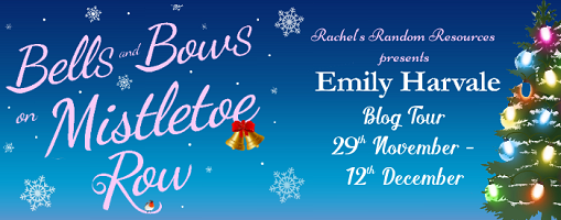 Bells and Bows on Mistletoe Row banner