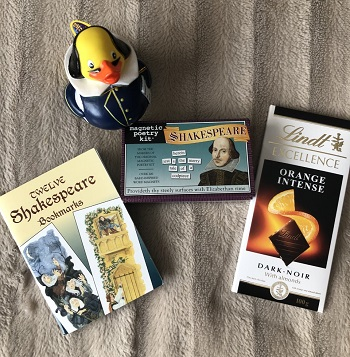 Shakespeare giveaway prizes