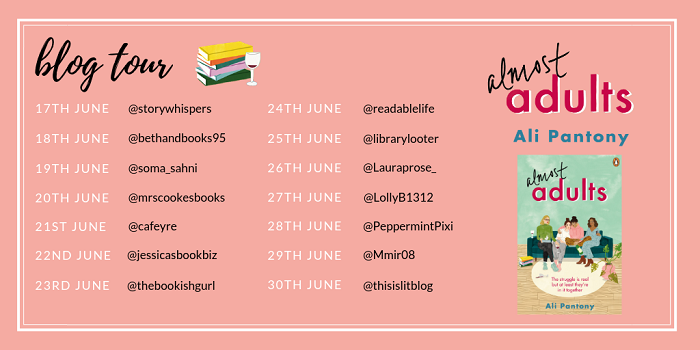 Almost Adults E-Book Blog Tour Card