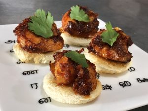 Tangy Chili Shrimp on Toast
