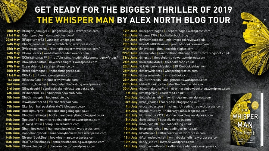 The Whisper Man blog tour poster