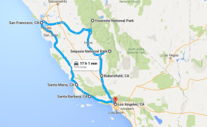 Los Angeles to Yosemite to San Francisco