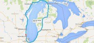 around Lake Michigan