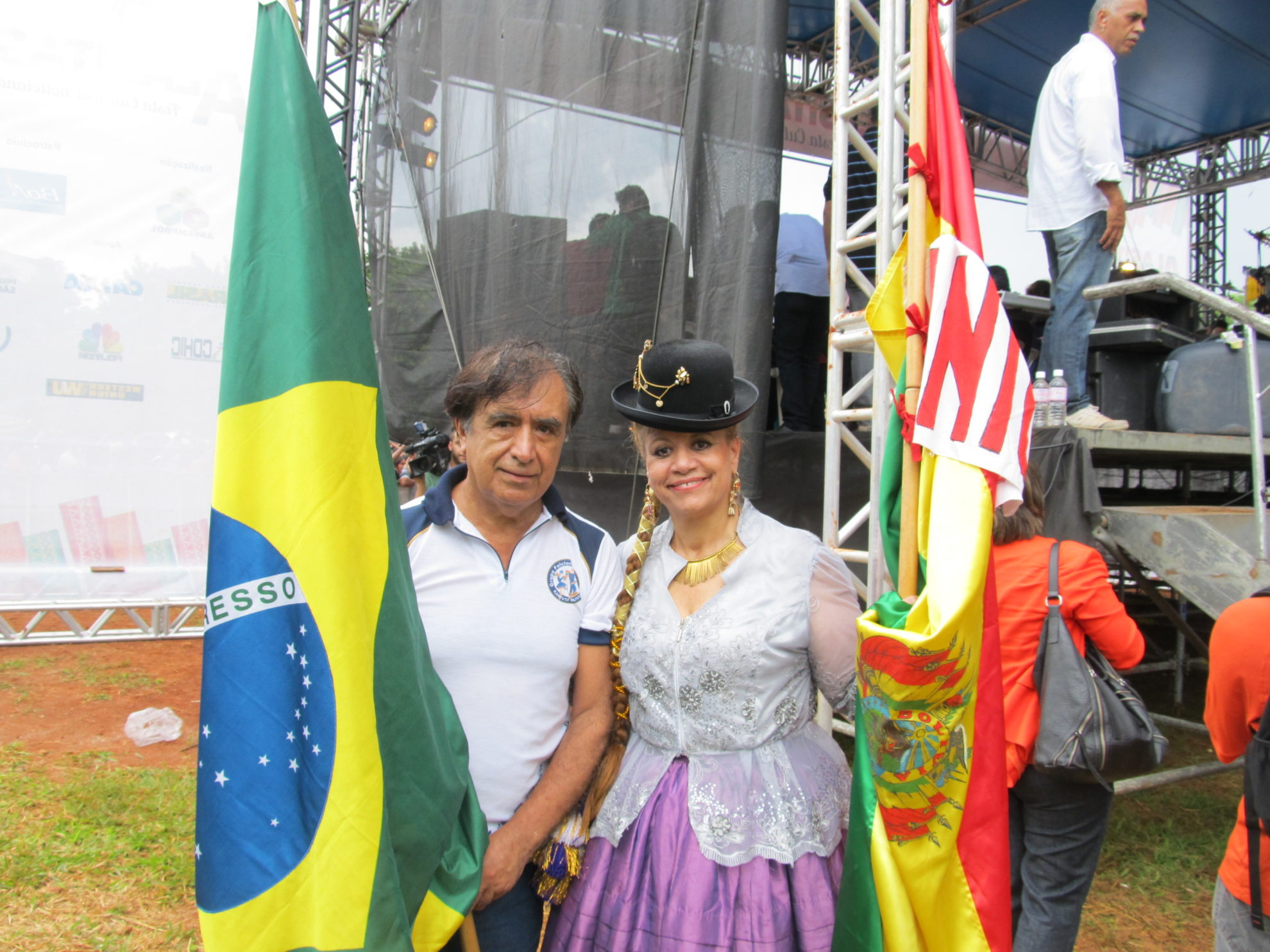 Brasileiros, bolivianos e outras nacionalidades estiveram juntas na Alasitas. Crédito: Rodrigo Borges Delfim