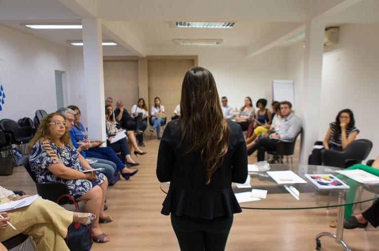 Parceiros do projeto conversam com empresas para sensibilizá-las à causa do refúgio. Crédito: Pacto Global Brasil/Divulgação