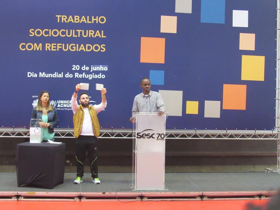 Sorteio definiu os jogos da primeira fase da Copa dos Refugiados. Crédito: Divulgação
