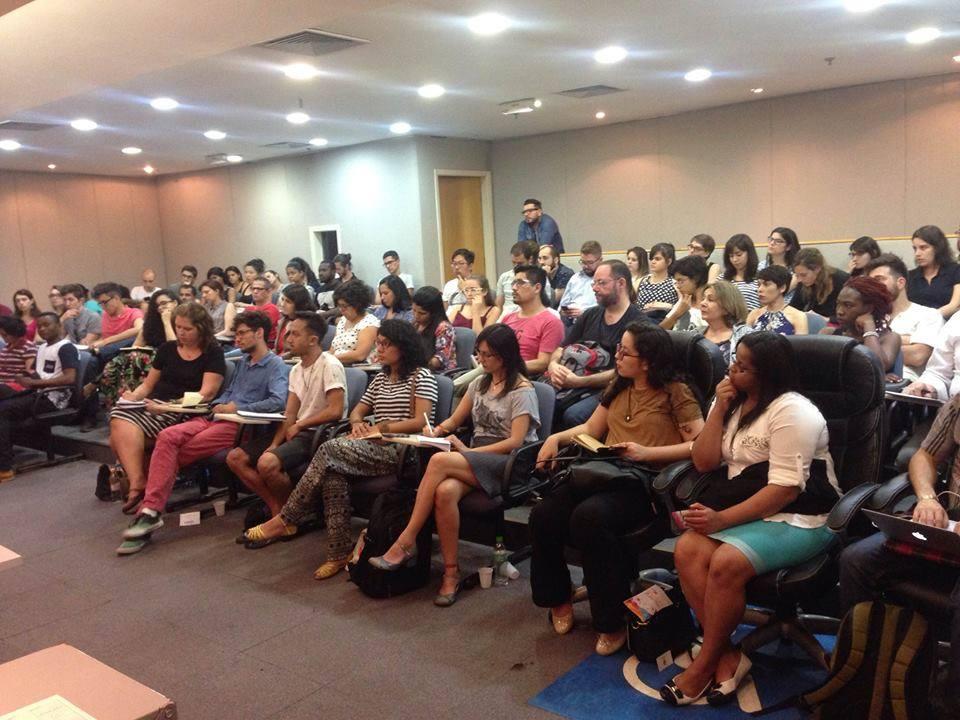 Público lotou o auditório da DPU para acompanhar a roda de conversa. Crédito: Fabio Ando Filho
