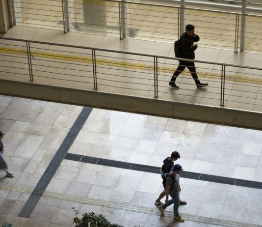 Estudantes no campus Baixada Santista da Unifesp