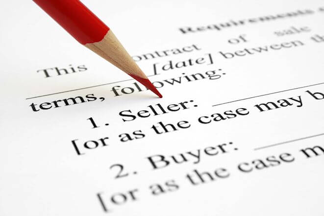 Seller contract with a pencil placed on paper. When buying anything, including medical care services, be sure to see if arbitration substitutes for jury trial and how such works contractually. You may be in for a big surprise if you don't check!