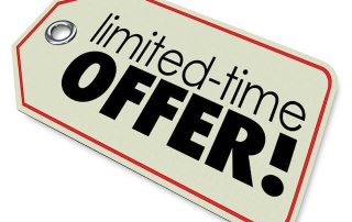 """Sales tag with """"limited-time OFFER!"""" on it. Sweetened plans or SWEETENED LIES?"""