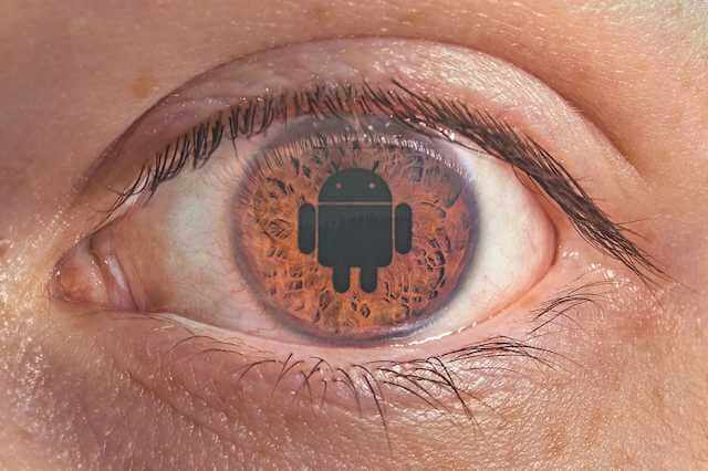 Close-up picture of eyeball with an Android shape for the pupil. Liars, Looters, and Losers are basically dopamine ADDICTS. Anyone can devolve to this point, so why not seek to resolve this?