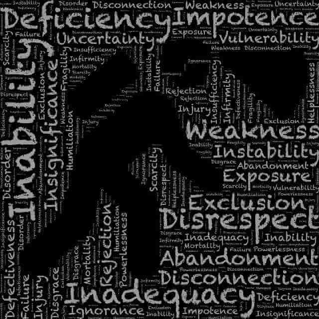 """Picture of stick man walking with many words spelled out such as """"weakness"""" and """"abandonment"""" and other fear-based elements surrounding him. Virtue Signaling and the usual internet debating is childish. This childishness is probably rooted in what the picture represents. Such people are trying to compensate for great hurt and weaknesses, sadly not addressing root personal problems and opportunities for growth!"""