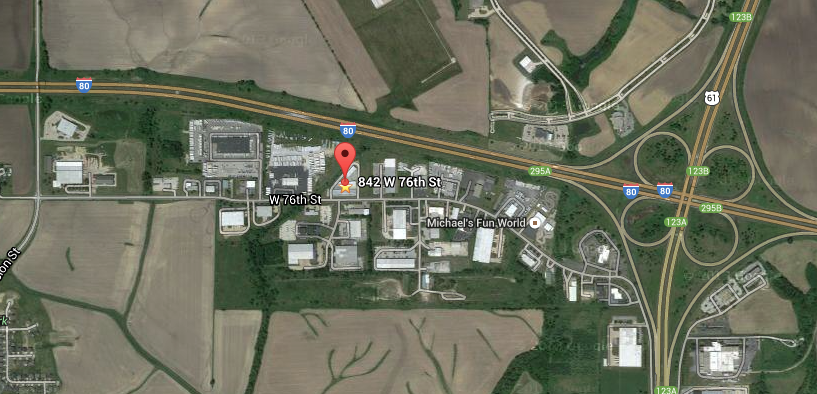 Map to Self-Storage facility in Davenport, Iowa.