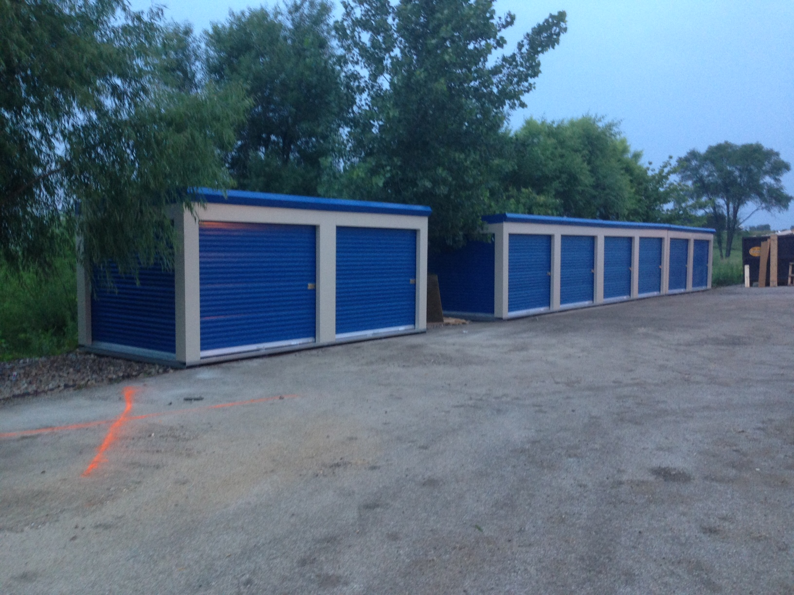 Secure metal roll up doors on storage units in Davenport, Iowa