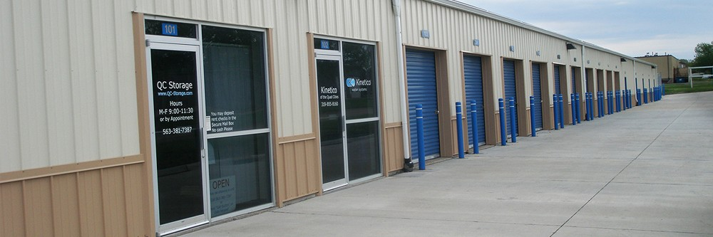 Main office of Quad Cities Self Storage in Davenport, Iowa.