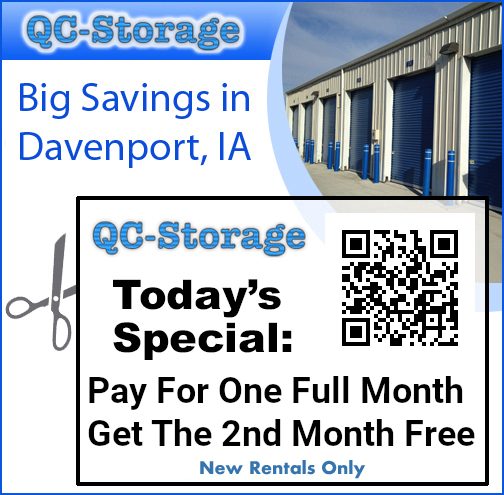 Currently we are offing two discounts: Play 6 months in advance and get 1/2 month free, or pay 12 months in advance and get the 13th month free on a storage unit.