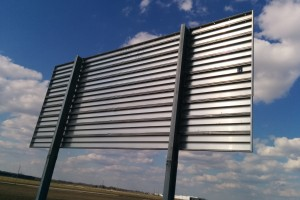Back of Highway Sign (corrugated)