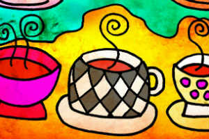 Abstract Tea Cup Art very colorful - TEA PARTY - Crop - Blog - Sm