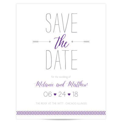 Purple Save the Date