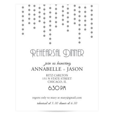 Silver Wedding Invitation Suite