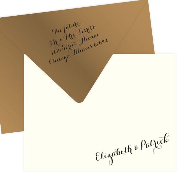 Gold Wedding Stationery