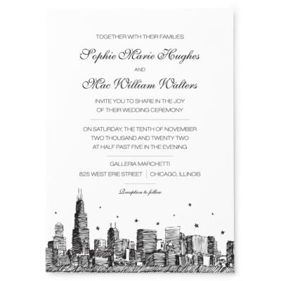 City Skyline Stars - Main Invitation