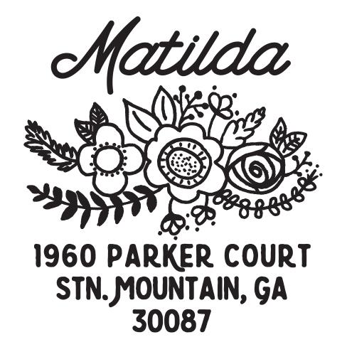 Self-inking stamps - Matilda