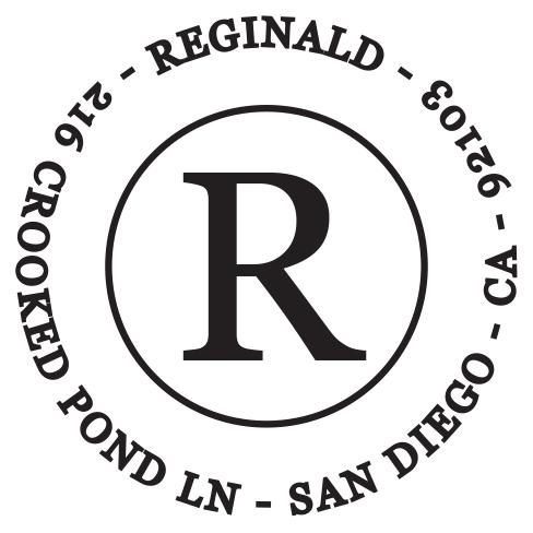 Self-inking stamps - Reginald