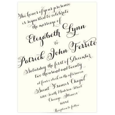 script wedding invitations elegant
