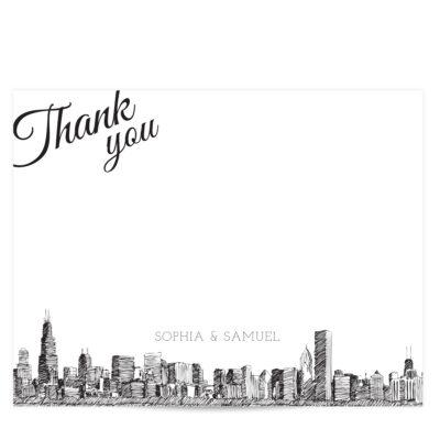 Skyline Thank You Card